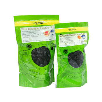 Organic Thassos Thrumba olives P.D.O.
